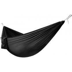 Yes4All Single Lightweight Camping Hammock with Carry Bag – Nylon Parachute Hammock Lightweight Portable Hammock for Camping Hiking Black Sports & Outdoors