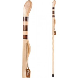 Brazos Trekking Pole Hiking Stick for Men and Women Handcrafted of Lightweight Wood and made in the USA Hickory 55 Inches Sports & Outdoors